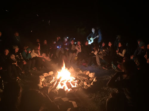 Camps Expeditions Pitt Lake campfire music